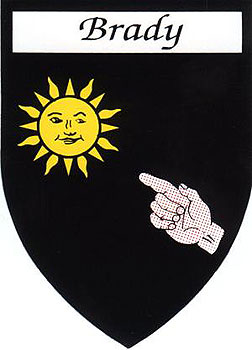 Family Name Stickers Brady Coat Of Arms
