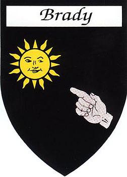 Brady Coat of Arms (Sticker)