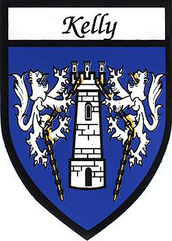 Family Name Stickers Kelly Coat Of Arms