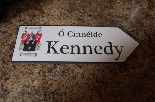 Irish Family Name Wood Road Signs Kennedy Coat Of Arms