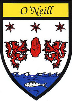 Family Name Stickers O Neill Coat Of Arms