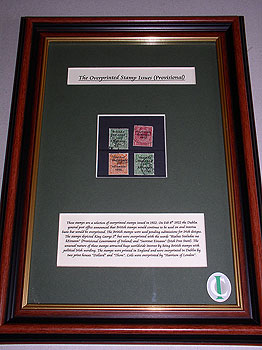 Framed 1922/23 Irish Free State Overprint Stamps