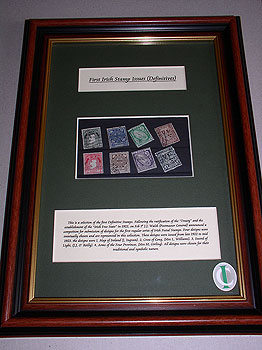 Framed Selection Of First Ever Irish Stamp Designs