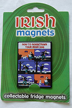 Fridge Magnet - How to Housetrain your Irish Dog