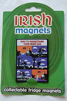 Fridge Magnet - How to Housetrain your Irish Dog
