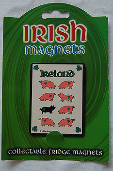 Irish Fridge Magnet - Black Pig