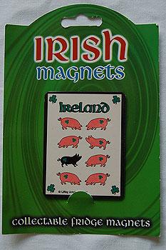 Irish Fridge Magnet - Black Pig