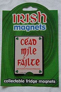 Irish Fridge Magnet - Cead Míle Fáilte - Irish Welcome
