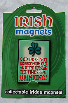 Irish Fridge Magnet - God and Drink