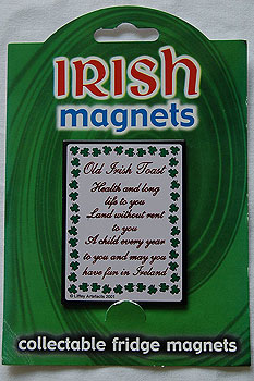 Irish Fridge Magnet - An Irish Toast