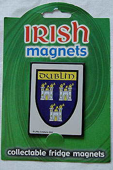 Irish Fridge Magnet - Dublin