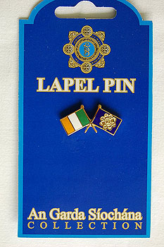 Irish American Police Crossed Flag