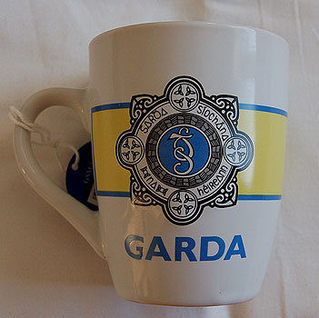 Irish Police Logo White Coffee Mug