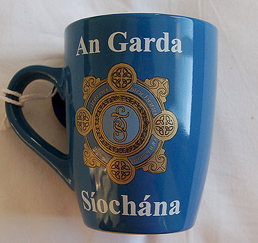 Blue Coffee Irish Police Garda Mug