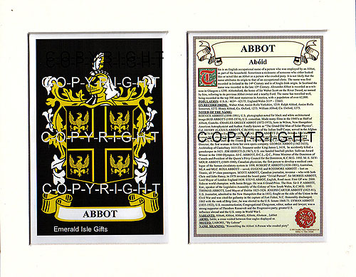 Abbot Family Crest and Name History