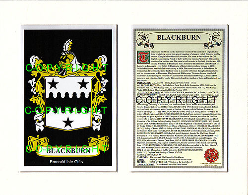 Heraldic Mounts Blackburn Family Crest And History