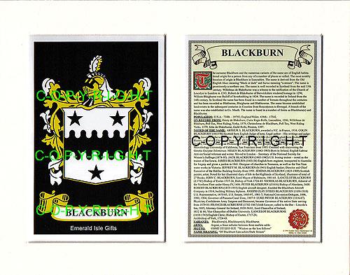 Heraldic Mounts Blackburn Family Crest And History