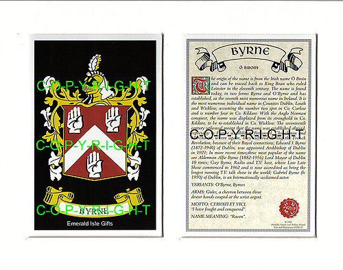 Byrne Family Crest and Name History