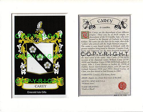 Heraldic Mounts Carey Family Crest And History