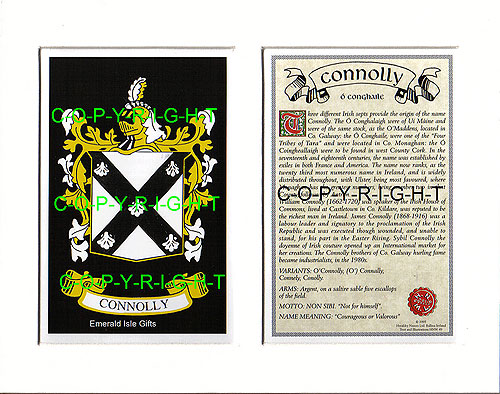 Connelly Irish Coat of Arms Celtic Cross Badge