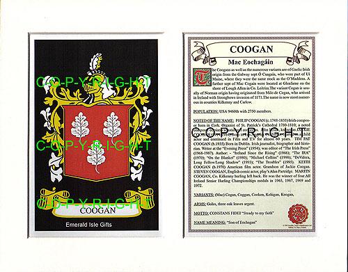 Heraldic Mounts - Coogan Family Crest and History