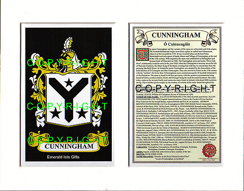 Cunningham Family Crest and
