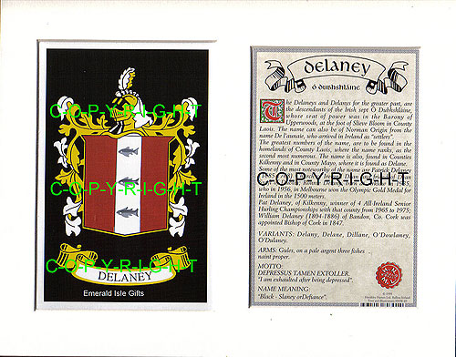 Heraldic Mounts Delaney Family Crest And History