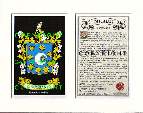 Duggan Family Crest and Name History