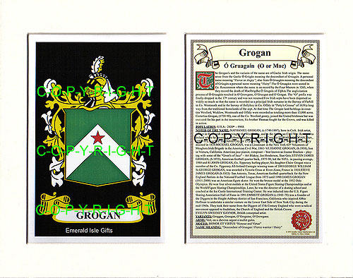 Heraldic Mounts Grogan Family Crest And History
