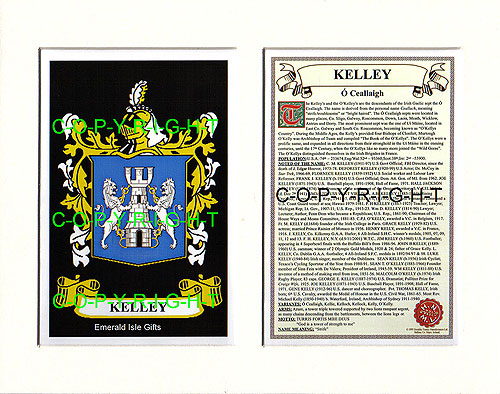Kelley Family Crest and Name History