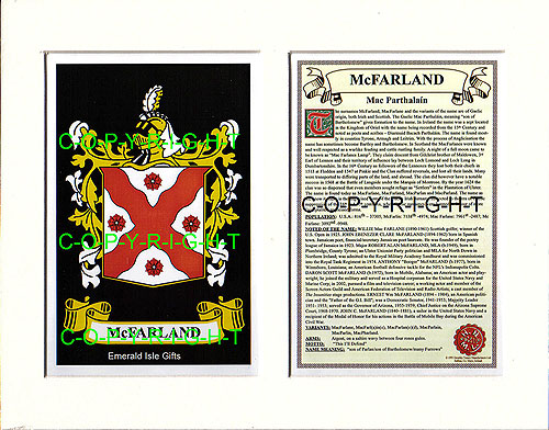 McFarland Family Crest and Name History