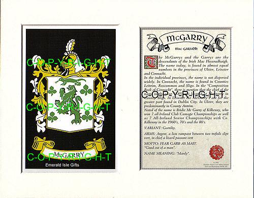 Heraldic Mounts Mcgarry Family Crest And History