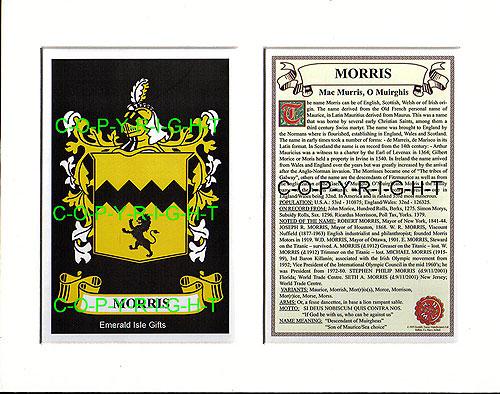 Heraldic Mounts Morris Family Crest And History