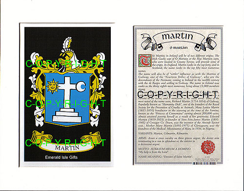 MANSELL to MATHEW Family Crest and Name History