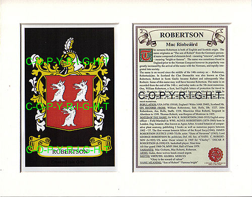 Robertson Family Crest and Name History