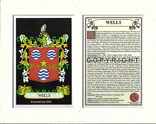 Heraldic Mounts Wells Family Crest And Nhistory