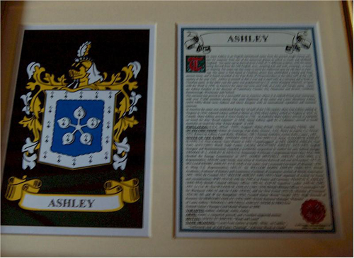 Ashley Family Crest and Name History