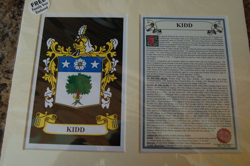 Kidd Family Crest and Name History