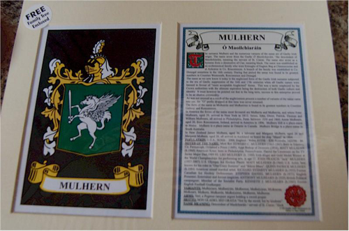 Mulhern Family Crest and Name History