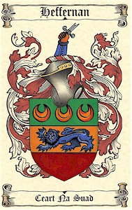 Handpainted Coat of Arms - ARDERNE to BAGNALL