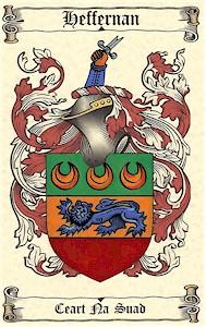 Handpainted Coat of Arms - BRACKEN to BRIDGES (On Antique Parchment Paper)