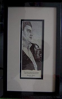 Brendan Behan Black & White Portrait (Mounted or Framed)