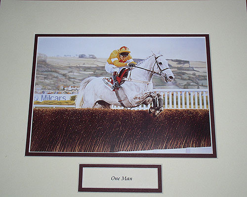 One Man Mounted Picture