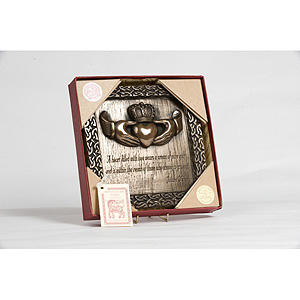 Claddagh Crown Bronze Plaque