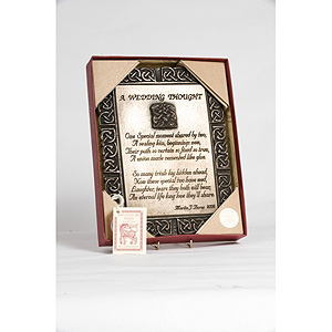 A Wedding Thought Bronze Plaque