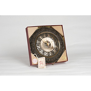 Celtic Irish Shamrock Bronze Clock