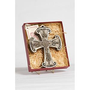 Bronze Curved Celtic Cross (Unusual design)