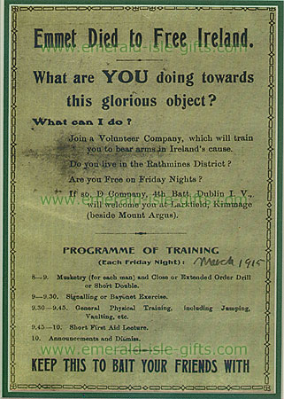 Irish Volunteers Recruitment Poster (1915)