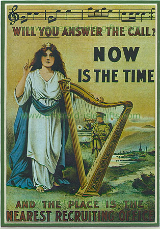 """""""Now is the Time"""" WW1 Poster"""