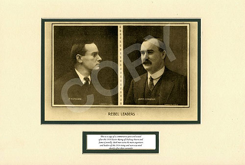 Irish 1916 Rising Leaders Pearse & Connolly